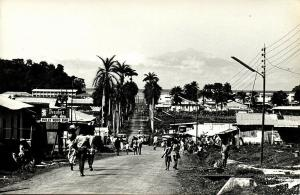 cameroon, VICTORIA LIMBE, Palm Avenue, Holly Wood Bar (1950s) RPPC Postcard