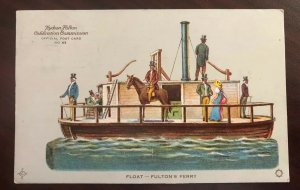 Hudson Fulton Celebration, Fultons Ferry Float 1909 Postcard