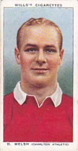 Wills Vintage Cigarette Card Association Footballers No 46 D Welsh Charlton A...