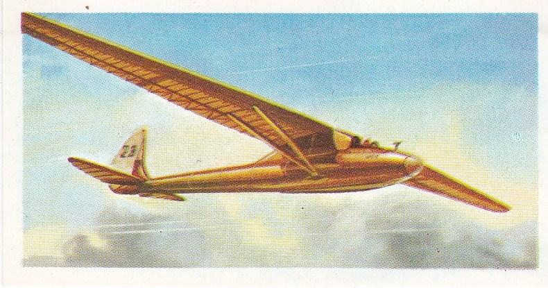 Trade Card Brooke Bond Tea History of Aviation black back reprint No 16 Kronfeld