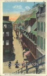 Little Champlain Street Quebec Canada Unused