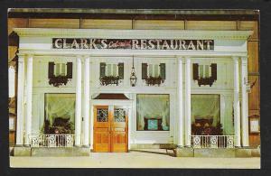 Clark's Colonial Retaurant Cleveland OH unused c1950's
