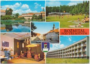 ROZMITAL POD TREMSINEM, Czech Republic, used Postcard