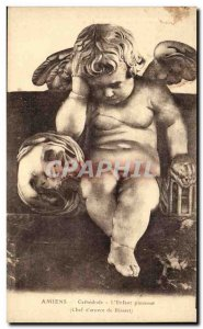 Amiens - Cathedrale - Crying Child - Angel - Engel - angel - Old Postcard
