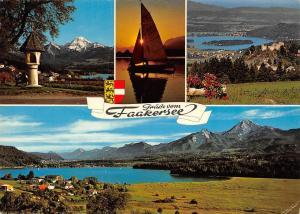 Austria Gruesse vom Faakersee Lake Faak multiviews, Kaernten