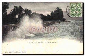 Old Postcard Lac Leman A gale