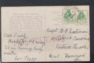 Genealogy Postcard - Capt Westerman - 3 Victoria Mansions, Ramsgate, Kent RF5244