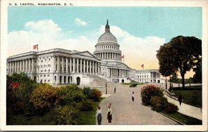 Vtg 1920s US Capitol from House Office Building Washington DC Postcard