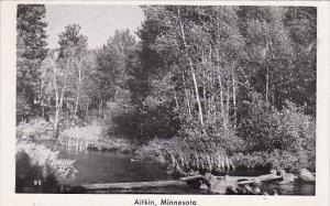 Minnesota Aitkin River Scene Real Photo