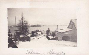 RP: TADOUSSAC , Quebec , Canada , 1900-10s ; Snow-Covered Street