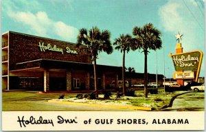 Gulf Shores, Alabama Postcard HOLIDAY INN WEST Highway 182 Roadside 1960s Chrome