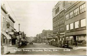 Chippewa Falls WI Street Vue Wilson's Hardware Stores RPPC Real Photo Postcard