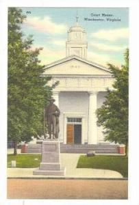 Court House, Monument, Winchester, Virginia, 30-40s