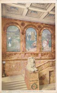 Massachusetts Boston Grand Staircase Public Libaray 1909