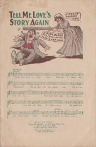 Song Card Tell Me Love's Story Again 1908