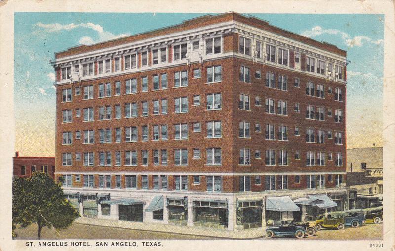 St Angelus Hotel San Angelo Texas Pu 1925