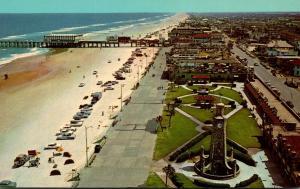Florida Daytona Beach Looking South Showing Pier