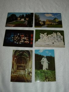 Glendale CA - Lot Of 6 Forest Lawn Vintage Postcards - x0339