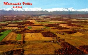 Alaska Matanuska Valley Farming Area Aerial View