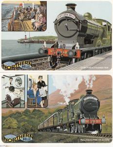 The Northern Belle Barbers Haircut Maid Steamer & Boat Trip Train 2x Postcard s