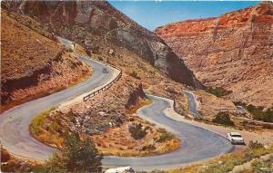 Big Horn Mountains Wyoming~Switchbacks In Shell Canyon~U.S. Hwy 14~1950's PC