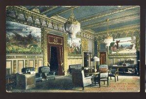 St Paul, Minnesota/MN Postcard, Governor's Room, State Capitol, 1909!