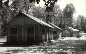 Gould City MI Cabins on S. Manistique Lake Real Photo Postcard