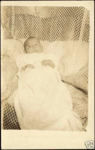 Cute Little BABY CHILD DRESS Real Photo (1910s) RPPC
