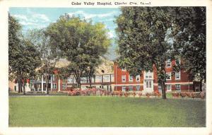 Charles City Iowa Cedar Valley Hospital Street View Antique Postcard K54731