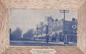 ITHACA, Michigan, PU-1911; Center Street, Looking West, Store Fronts