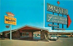 Autos Route 66 Winslow Arizona Petley Town House Motel Postcard 20-11089