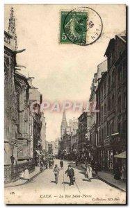 Old Postcard Caen La Rue Saint Pierre