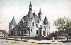 Saginaw Michigan~US Post Office~Homes~Shelter House~1908 Postcard