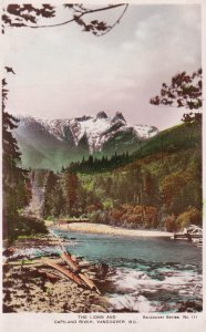 RP; VANCOUVER, British Columbia, Canada, PU-1935; The Lions And Capilano River