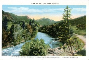 THE MILWAUKEE ROAD, ALONG THE GALLATIN GATEWAY, YELLOWSTONE NTL PARK