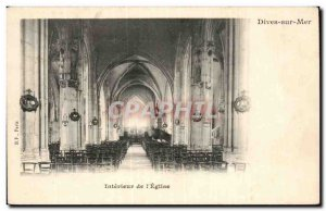 Old Postcard Dives on on the sea & # 39eglise