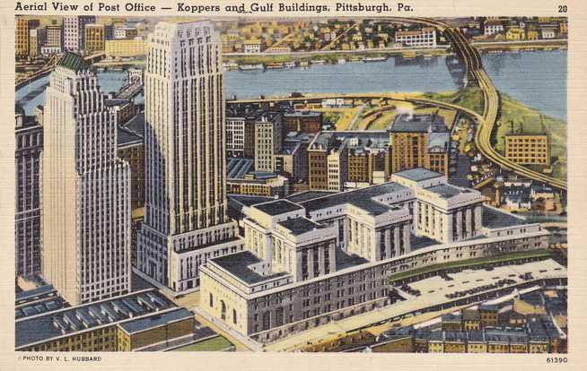 Post Office, Koppers and Gulf Buildings - Pittsburg PA, Pennsylvania - Linen