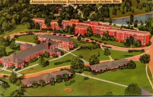 Mississippi Jackson Aerial View Administration Building State Sanitorium