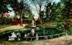 Connecticut Hartford Elizabeth Park Rustic Bridge and Fountain