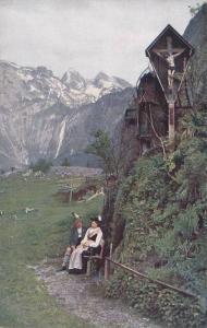 Jesus In A Cross, Saletalpe, Berchtesgaden (Bavaria), Germany, 1900-1910s