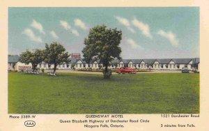 Queensway Motel Niagara Falls Ontario Canada postcard