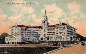 New Monterey Hotel, Asbury Park, New Jersey, Early Postcard, Unused