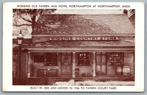 Postcard Northhampton MA c1949 Wiggins Country Store Tavern Lewis N. Wiggins