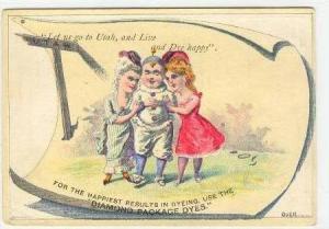 TC,2 Girls Hugging Boy,Diamond Package Dyes,1880-1890s