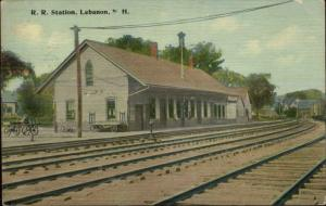 Lebanon NH RR Train Station c1910 Postcard #1