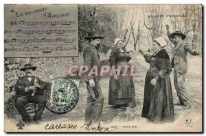 Old Postcard Folklore Auvergne The bourree