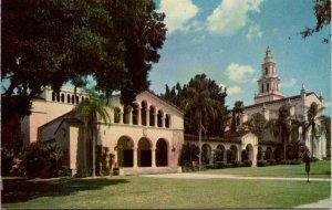 Postcard Rollins College Theatre Knowle Memorial Chapel Winter Park Florida 1496