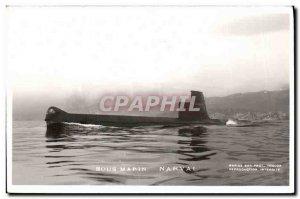 Old Postcard Boat War Submarine Narwhal