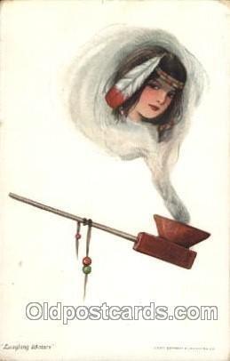 Artist Signed Samuel Schmucker postal used unknown light crease left bottom c...
