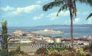 Suva's Busy Harbour Suva Fiji, Fijian Postal Used Unknown, Missing Stamp